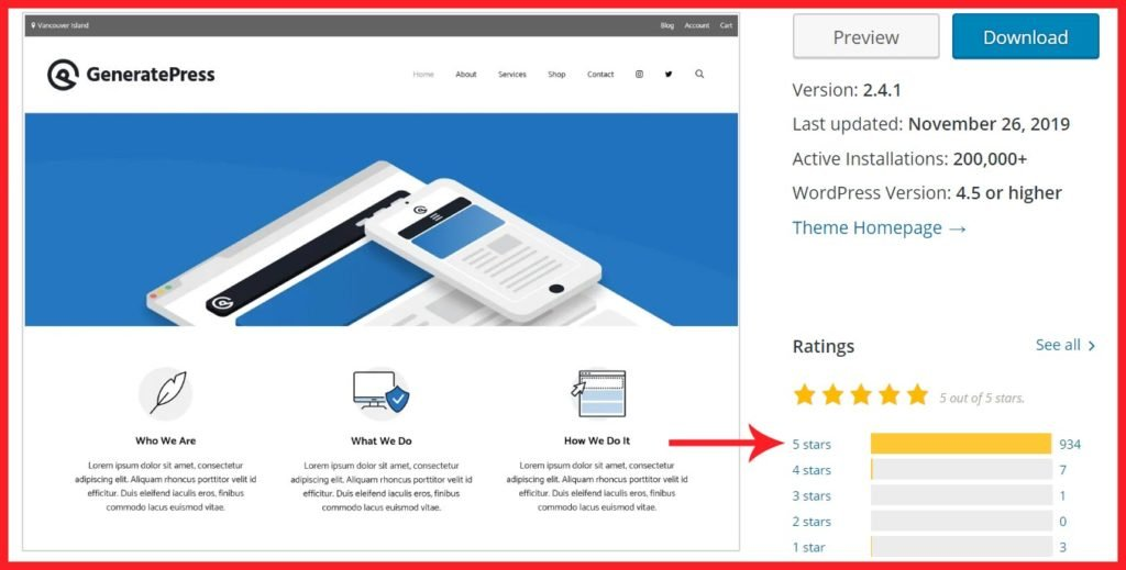 GeneratePress Free Theme Review and Rating