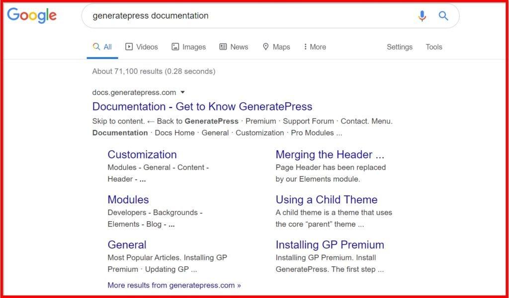 GeneratePress Theme Documentation